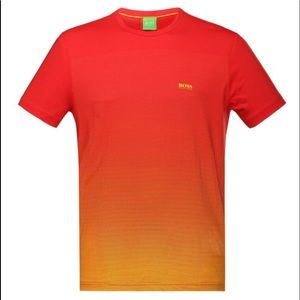 Hugo Boss Spain Red Ombre Graphic Tee T-Shirt